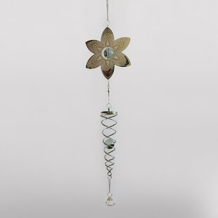 Sherborne Flower And Spiral Wind Chime By Sol 72 Outdoor