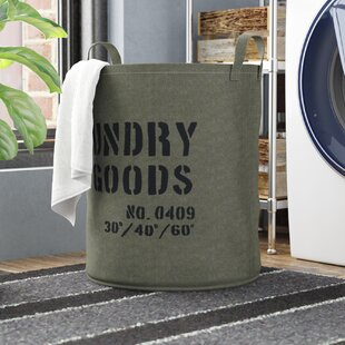 Williston Forge Army Canvas Laundry Hamper