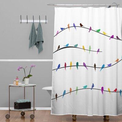 Brayden Studio Ketner Happy Spring Single Shower Curtain