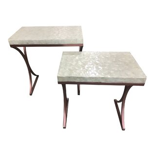 Kyra 2 Piece Metal Base End Table