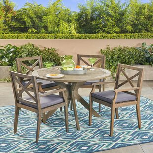 Obrien 5 Piece Dining Set with Cushions