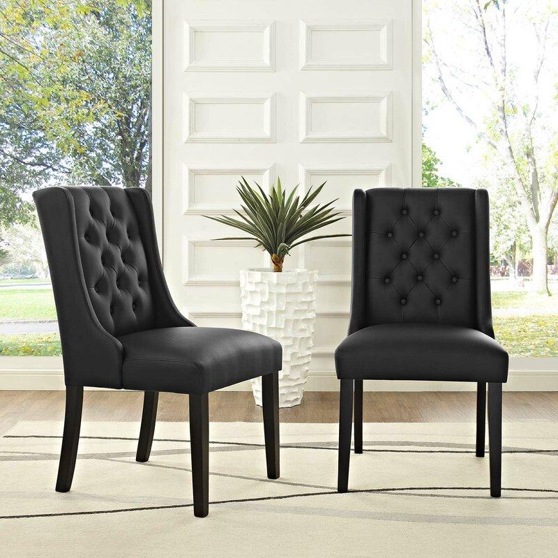 Alcott Hill Java Upholstered Dining Chair (Set of 2)