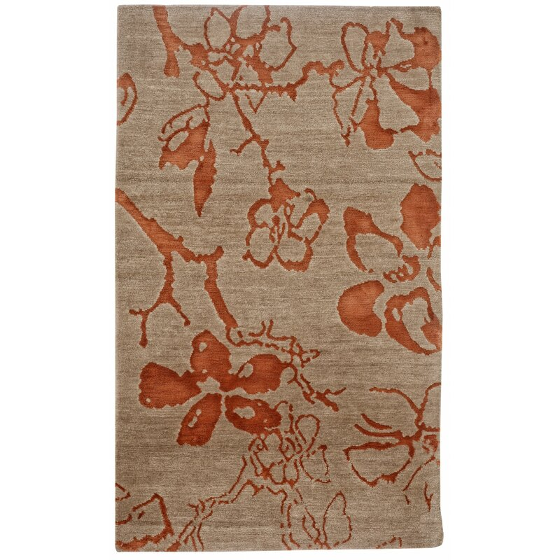 Red Barrel Studio Johnstone Hand Knotted Wool Brown Area Rug Wayfair