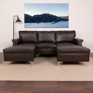 Garmund 98 Left Hand Facing Sectional with Ottoman by Orren Ellis
