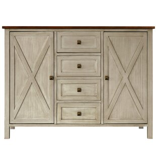 Gracie Oaks Lamb Farmhouse 4 Drawer 2 Door Accent Cabinet