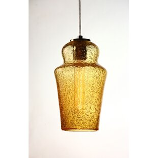 Viz Glass Vintage 1-Light Novelty Pendant