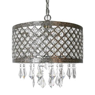 Willa Arlo Interiors Ved Lattice 1-Light Crystal Pendant