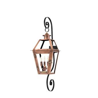 Primo Lanterns Savannah Aged Copper 3 Bulb 30 H Outdoor Wall Lantern Wayfair