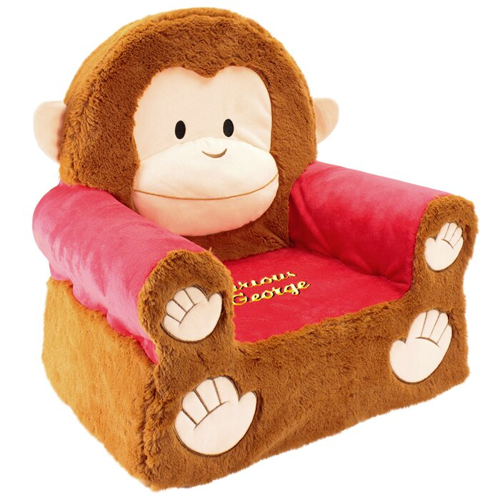 Superb Curious George Sweet Seats Kids Novelty Chair Theyellowbook Wood Chair Design Ideas Theyellowbookinfo