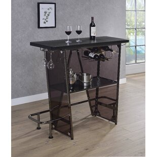 Cassell 1 Tier Bar with Wine Storage by Williston Forge