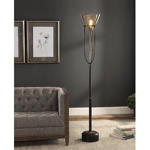 Alissa Glass 72 Torchiere Floor Lamp By Red Barrel Studio Lamps