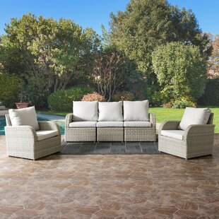 Killingworth 5 Piece Sectional Set With Cushions by Rosecliff Heights Design