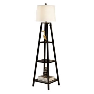 Modern contemporary floor lamp with shelves allmodern elliot 63 floor lamp mozeypictures Image collections