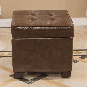 Elegant Storage Cube Ottoman by Bellasario Collection