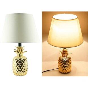 Pineapple lamp wayfair martel shiny pineapple ceramic 19 table lamp set of 4 aloadofball Images