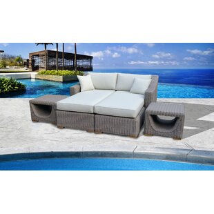 BrokawPremium Patio Daybed with Cushions by Highland Dunes