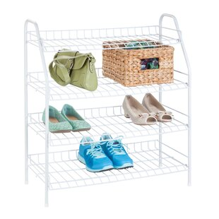 Wire 12 Pair Shoe Rack By Honey Can Do
