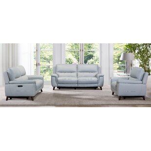 Lizette Leather Reclining Configurable Living Room Set by Armen Living