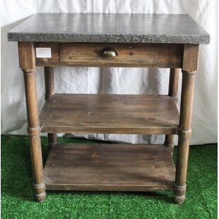 One Allium Way Armer Rustic End Table with Storage
