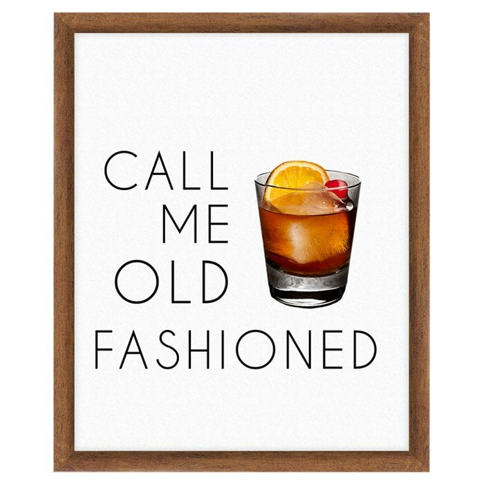 Ptm Call Me Old Fashioned Framed Textual Art Wayfair