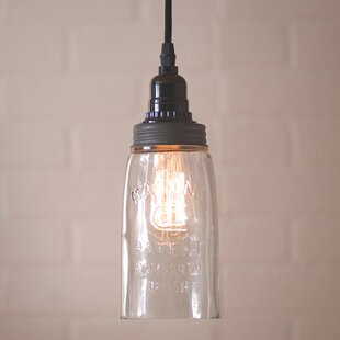 Kessler 1-Light Jar Pendant by Gracie Oaks