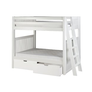 Oakwood Twin Over Twin Bunk Bed With Drawers by Harriet Bee Sale