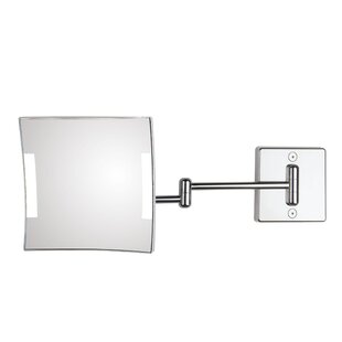 Quadrolo 2-Arm Cable and Plug LED Magnifying Mirror ByWS Bath Collections