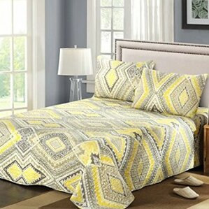 King Size Chenille Bedspreads | Wayfair : yellow quilt bedding - Adamdwight.com