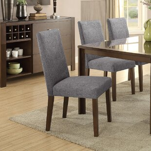 Belvedere Upholstered Dining Chair (Set of 2) Latitude Run