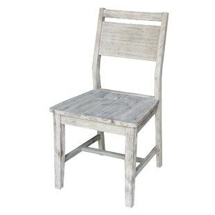 McDuffie Solid Wood Dining Chair (Set of 2) Highland Dunes