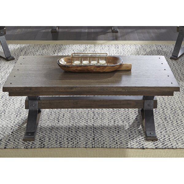 Greyleigh Millville Trestle Coffee Table Reviews Wayfair