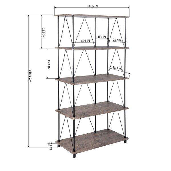 Ebern Designs Axbridge 66 6 H X 31 5 Wsteel Etagere Bookcase Reviews Wayfair