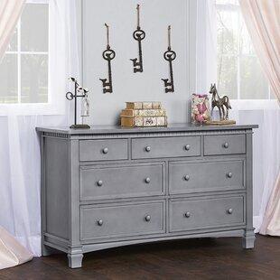 Read Reviews Storm Grey Cheyenne and Santa Fe 7 Drawer Double Dresser ByEvolur