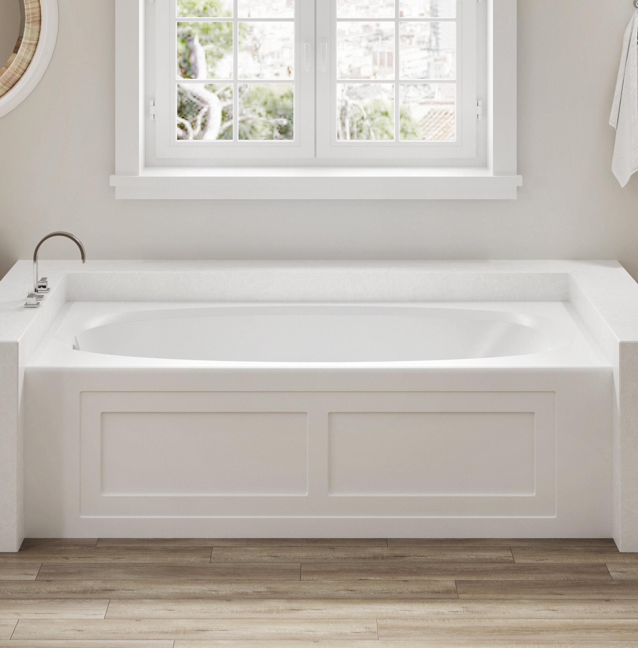 Jacuzzi Amiga 72 X 36 Drop In Whirlpool Bathtub Wayfair