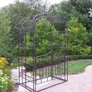 Oakland Living Gothic Iron Arbor with Gate