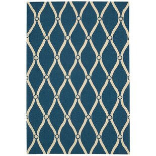 Merganser Hand-Tufted Navy/Beige Indoor/Outdoor Area Rug
