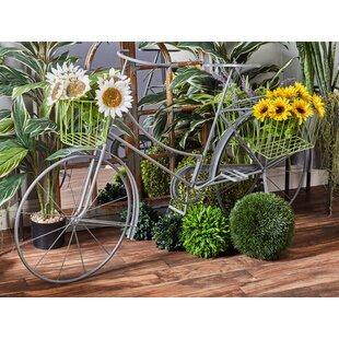 Traditional Metallic Bicycle Planter Box
