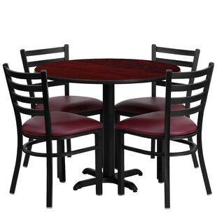 Jinnie 5 Piece Dining Set Red Barrel Studio