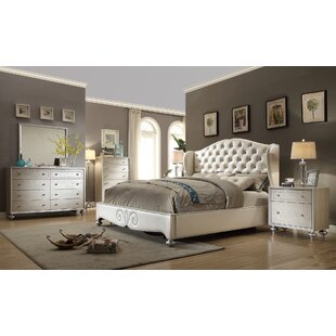 Kwak King Size Panel 4 Piece Bedroom Set