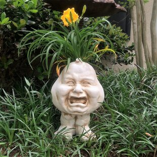 Muggly The Face Crying Brother Statue Planter by HomeStyles