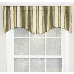 Linn Stripe Cornice 50″ Window Valance