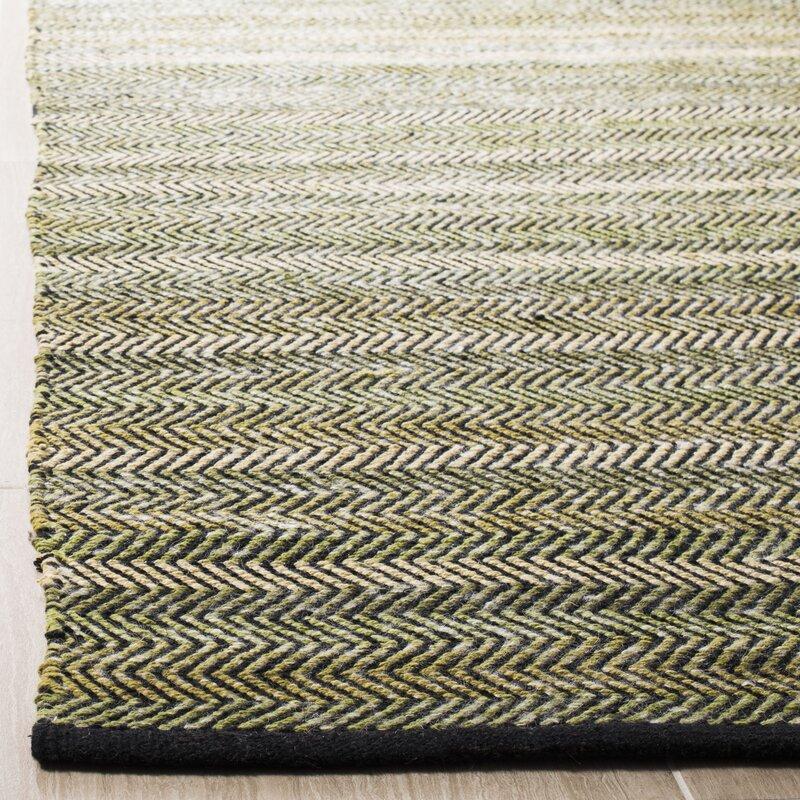 Loon Peak Chiginagak Handwoven Wool Green Area Rug Wayfair