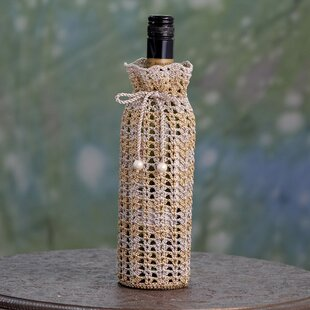 Crocheted 1 Bottle Tabletop Wine Bottle R..