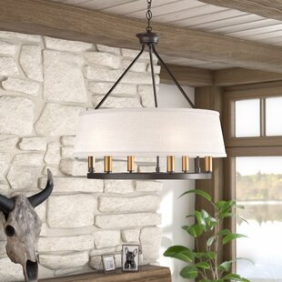 Union Rustic Hughett 6-Light Drum Chandelier