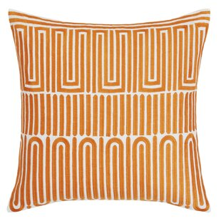 Racket Club Geometric Throw Pillow