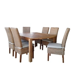 Hamish 7 Piece Teak Dining Set with Cushions by Gracie Oaks