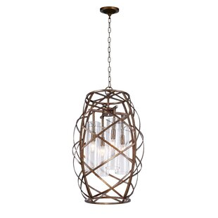 Keeva 4-Light Lantern Chandelier by CWI L..