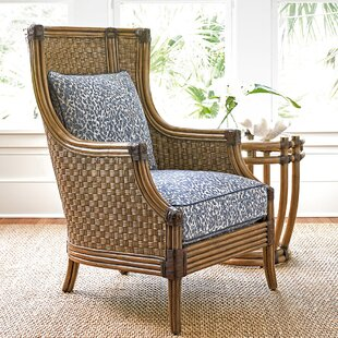 Twin Palms Wingback Chair by Tommy Bahama Home 2019 Sale