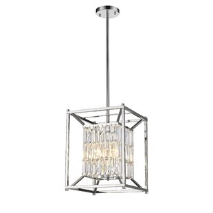 Orren Ellis Regeani 4-Light Square/Rectangle Pendant