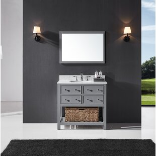 Truby 36 Single Bathroom Vanity Set with Mirror by Charlton Home
